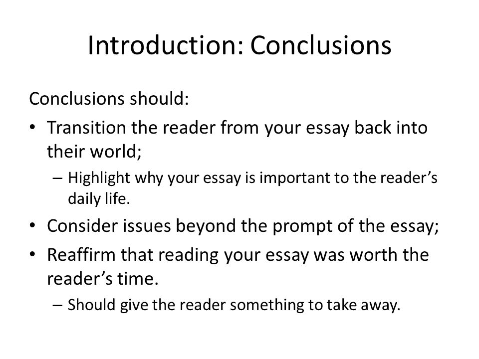 Composition 101: Five Paragraph Essay, Conclusions - ppt video ...