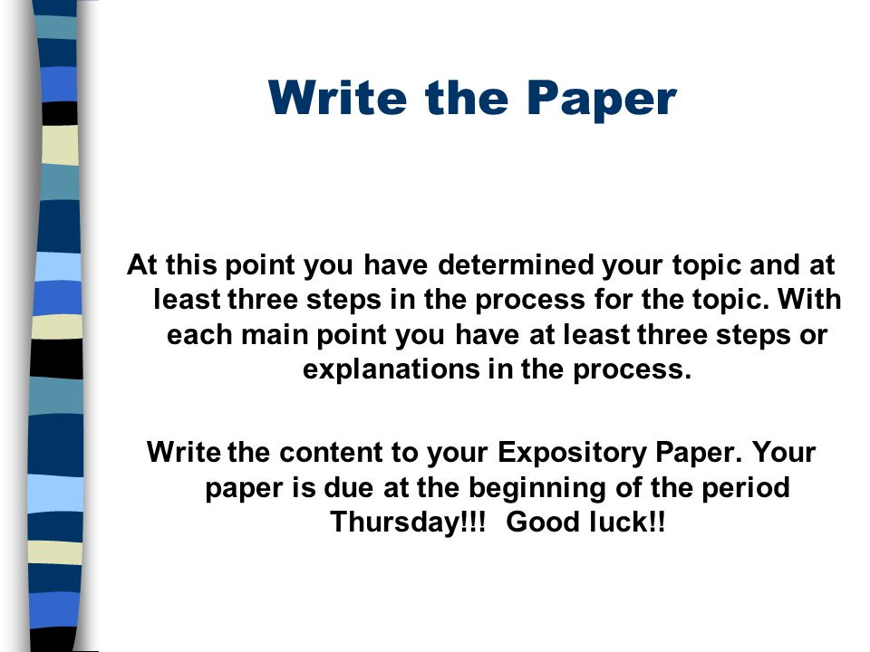 Write the Paper