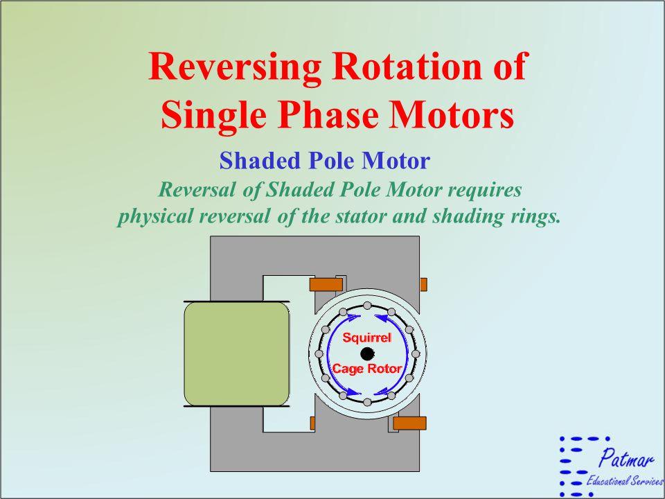 Motor troubleshooting pole shaded Shaded Pole