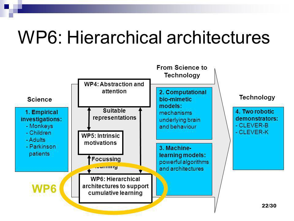 WP6: Hierarchical architectures