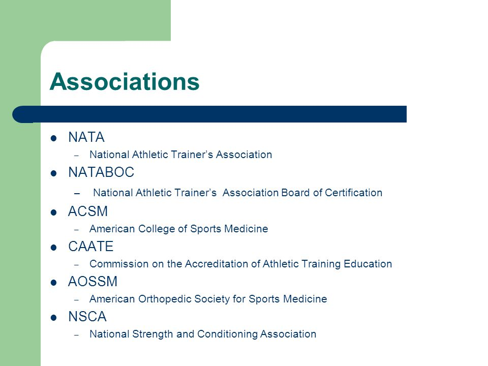 The Athletic Trainer And The Sports Medicine Team Ppt Video Online