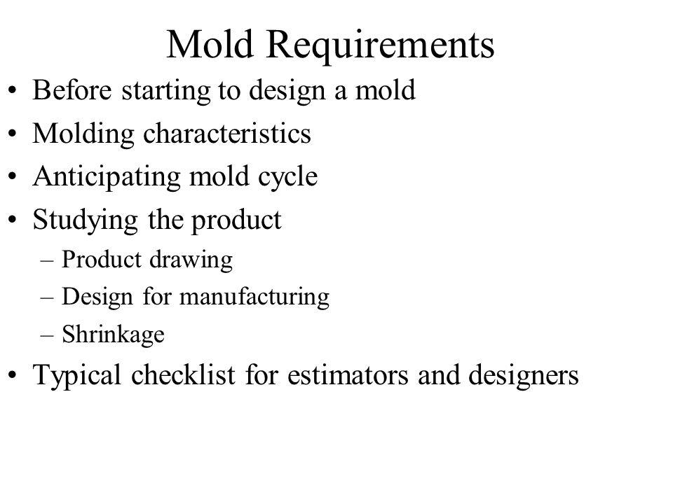 Mold Design Guidelines Chapter 4 - ppt video online download