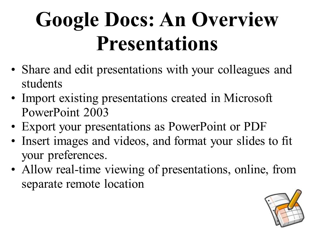 google docs allows users within gpisd to create word processing