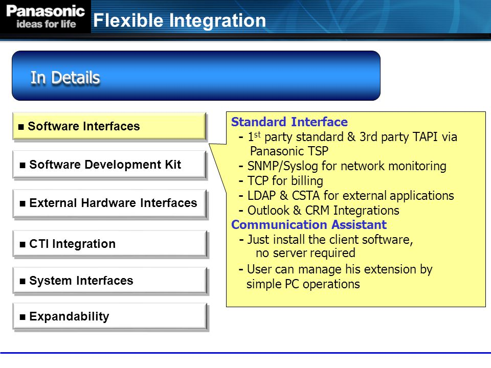 Panasonic ip-pbx: kx-tde / ncp ppt video online download.