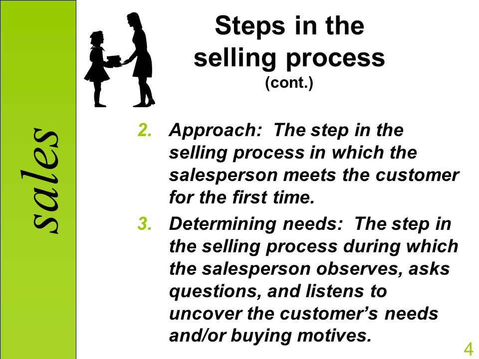 the first step in the selling process is