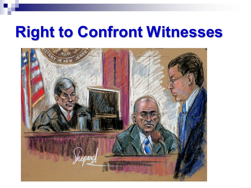 Image result for right to confront