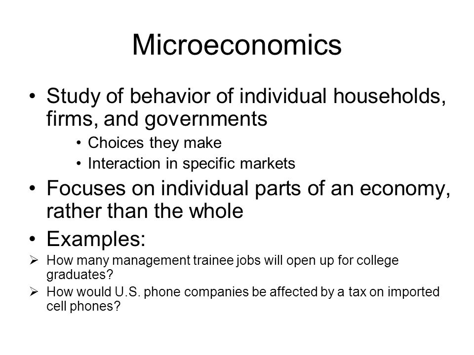 Lecture 1 What Is Economics Ppt Download