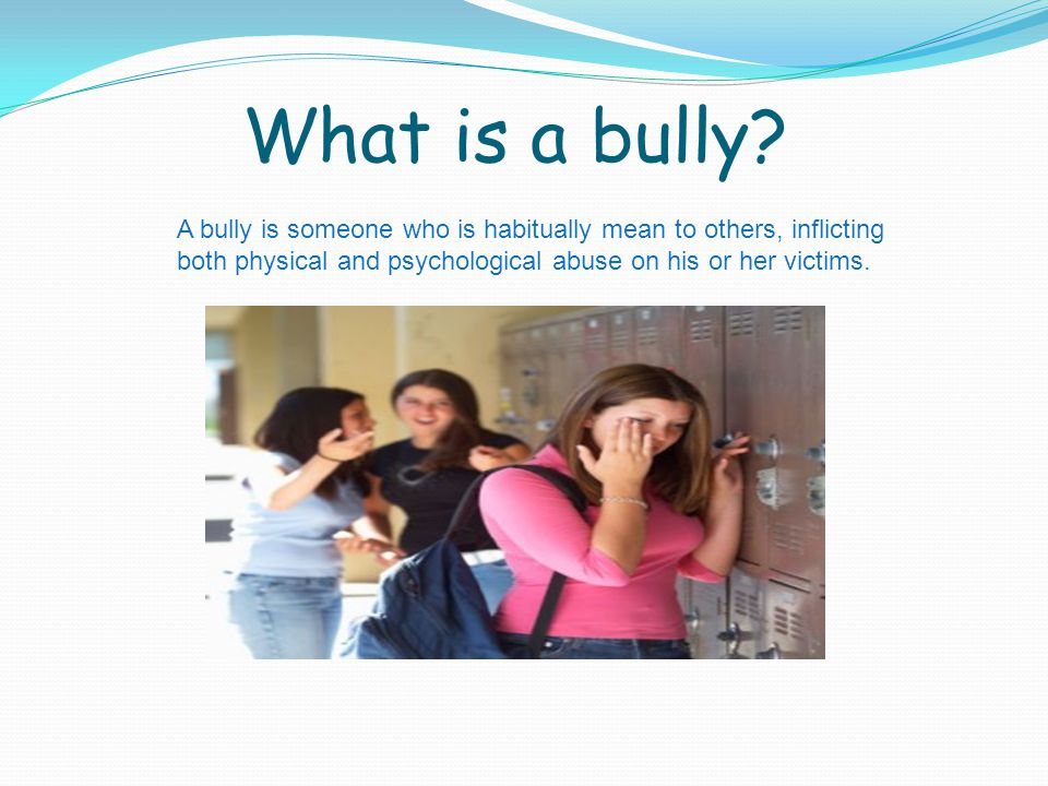 What is a bully.