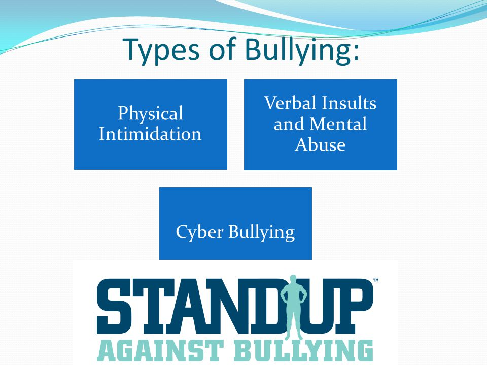 Types of Bullying: Verbal Insults and Mental Abuse