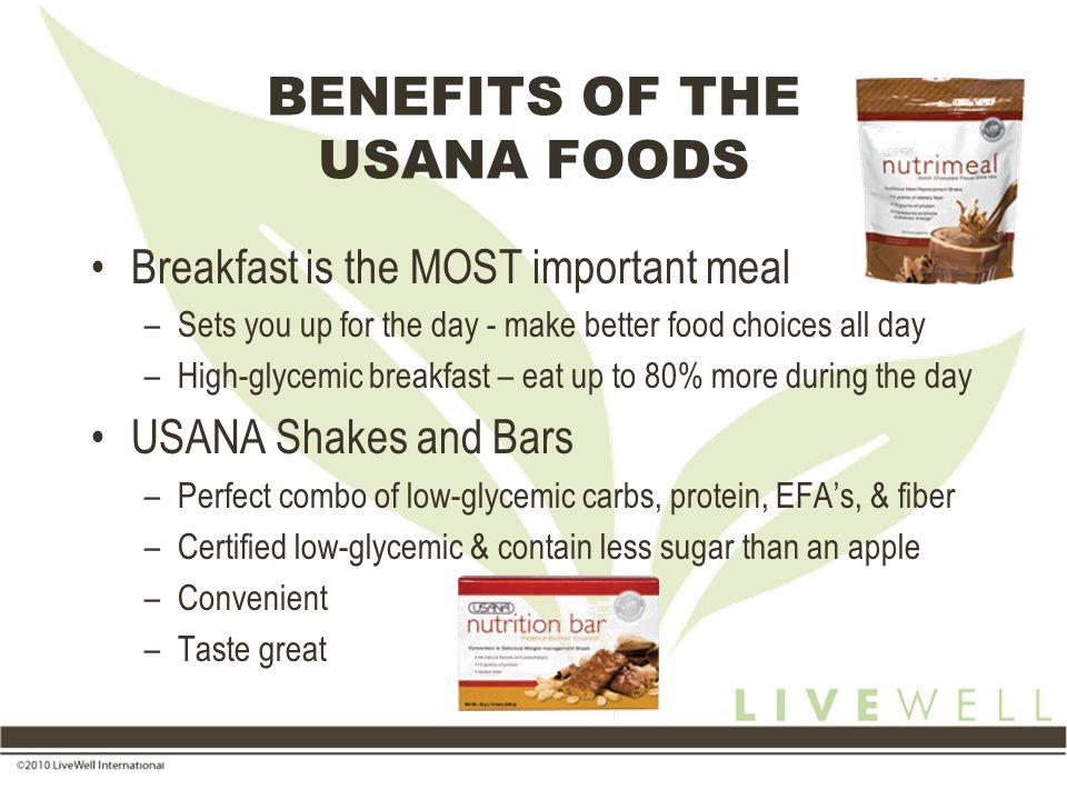 BENEFITS OF THE USANA FOODS