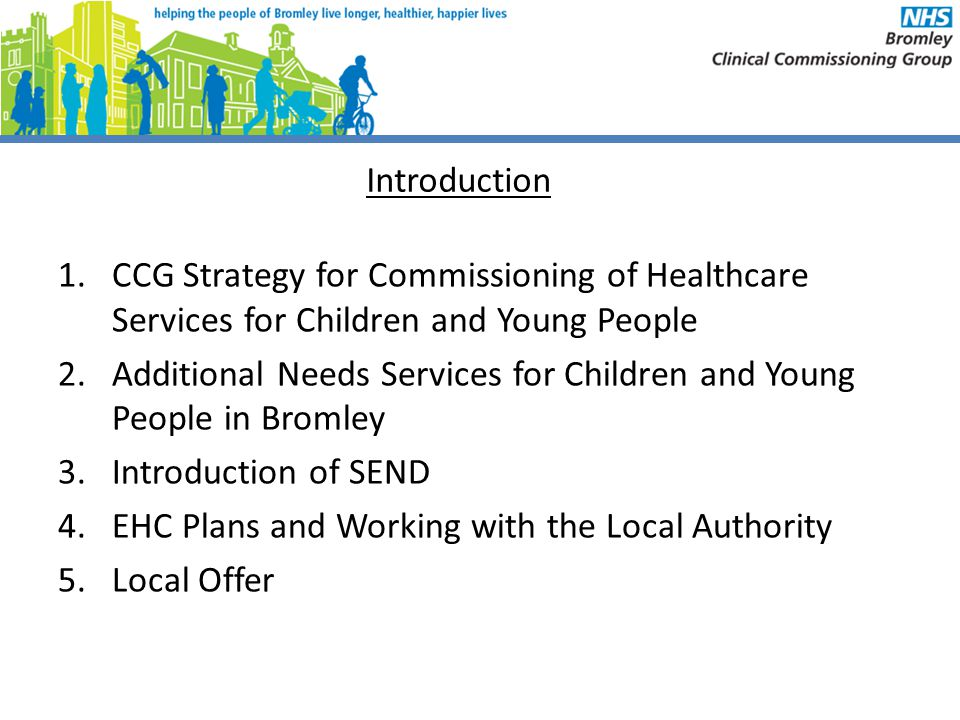 Introduction CCG Strategy for Commissioning of Healthcare Services for Children and Young People.