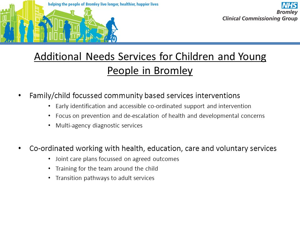 Additional Needs Services for Children and Young People in Bromley