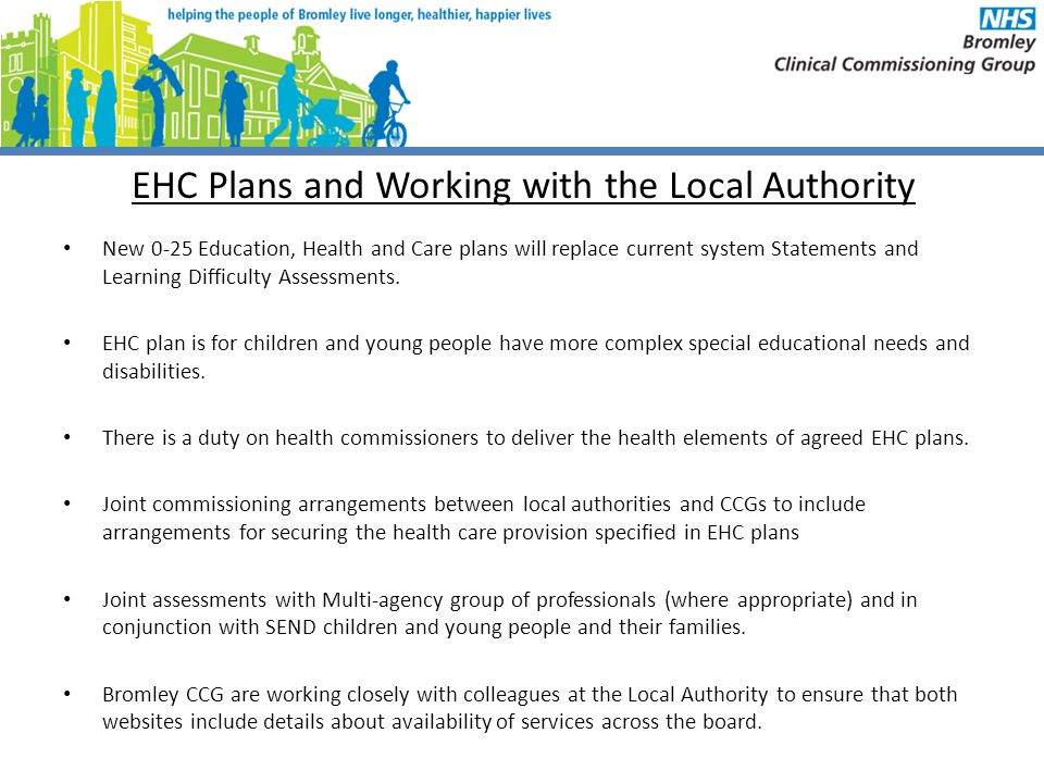 EHC Plans and Working with the Local Authority