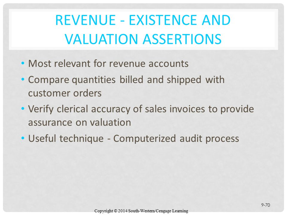 Chapter 9 Auditing the Revenue Cycle - ppt download