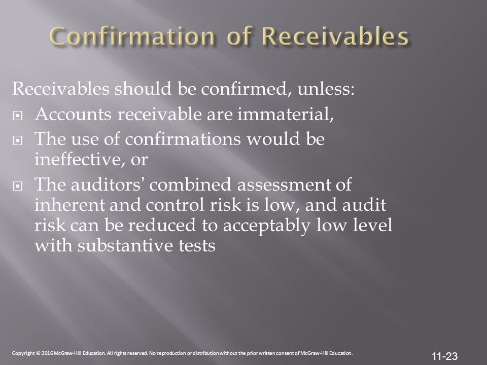 Confirmation of Receivables