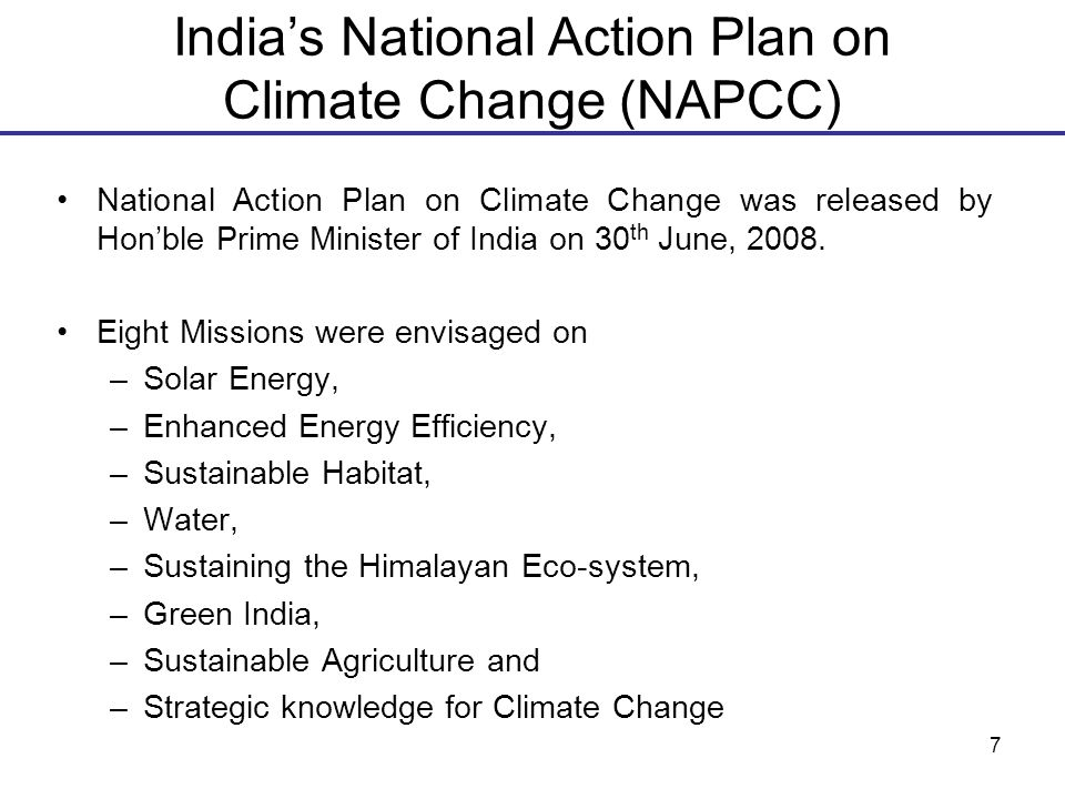 national action plan on climate change india