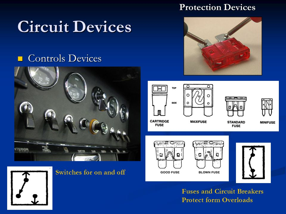 Circuit Devices Controls Devices Protection Devices