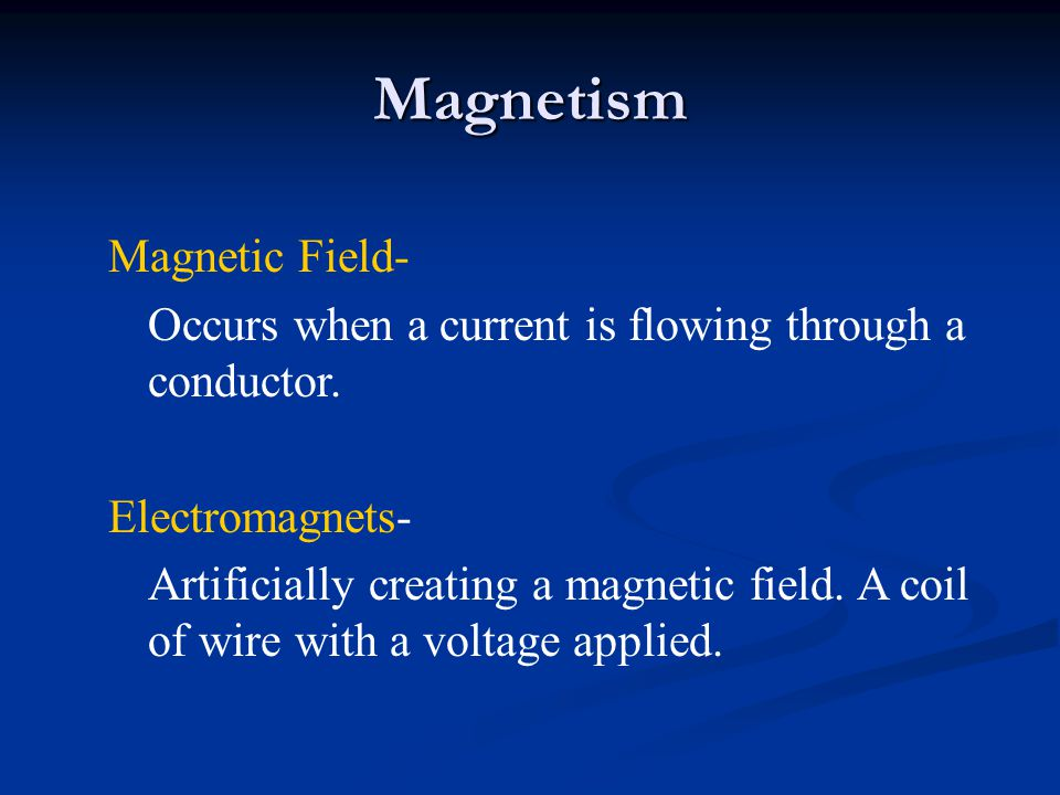 Magnetism Magnetic Field-