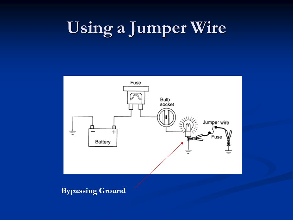 Using a Jumper Wire Bypassing Ground