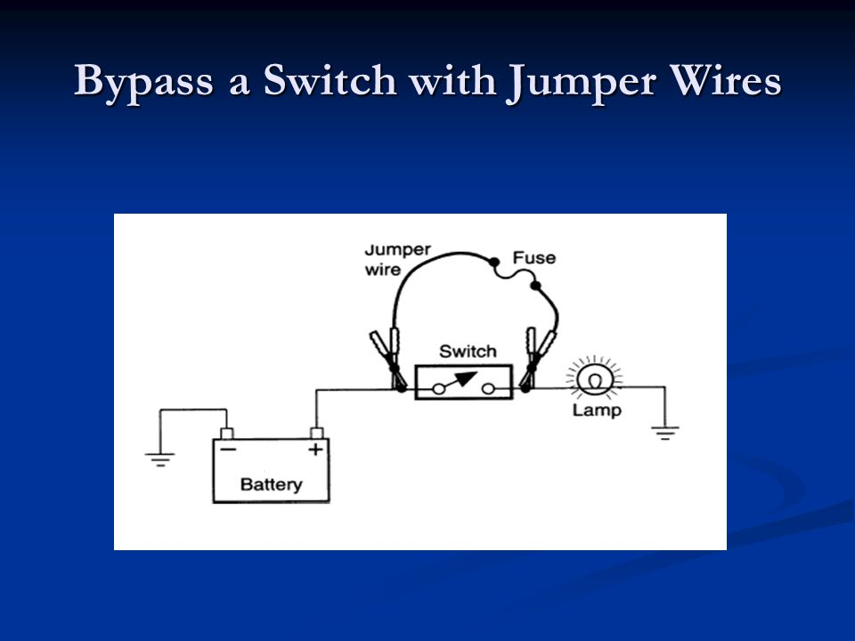 Bypass a Switch with Jumper Wires