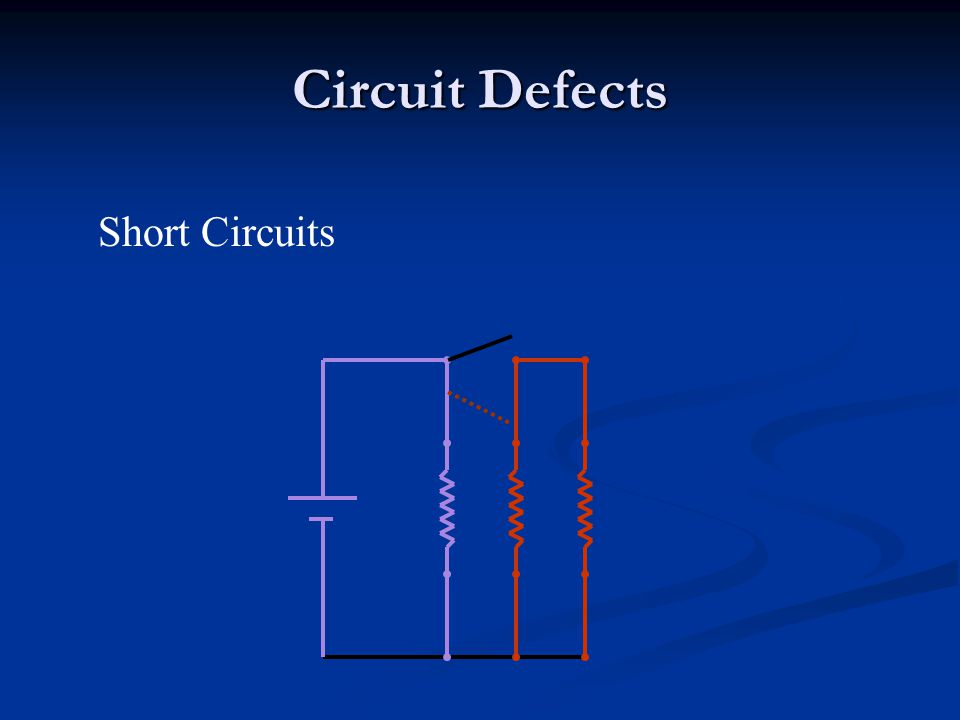 Circuit Defects Short Circuits