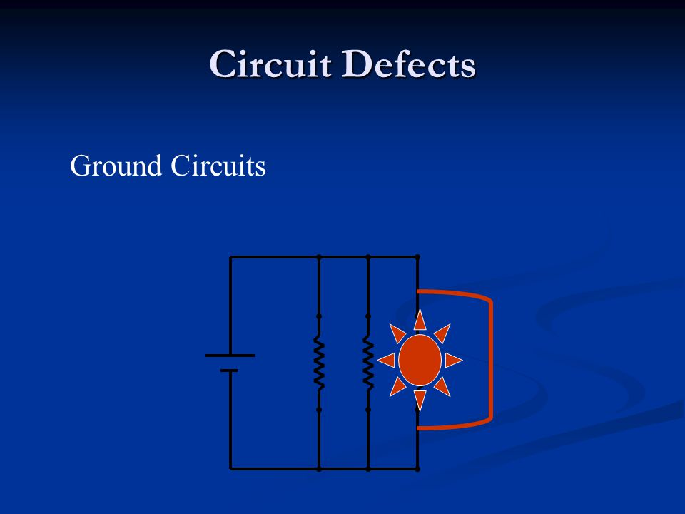 Circuit Defects Ground Circuits
