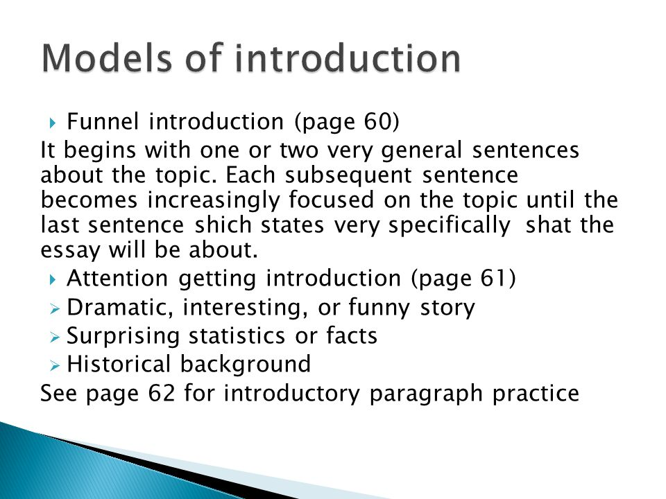 Models of introduction