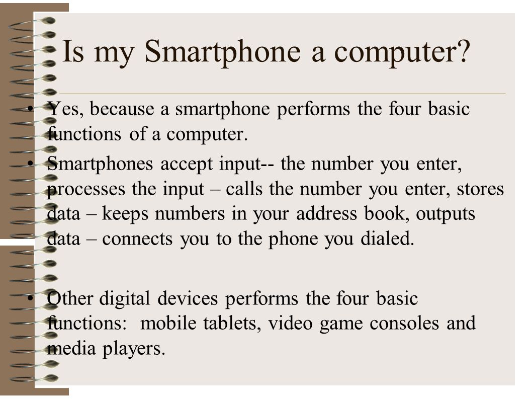 Is my Smartphone a computer