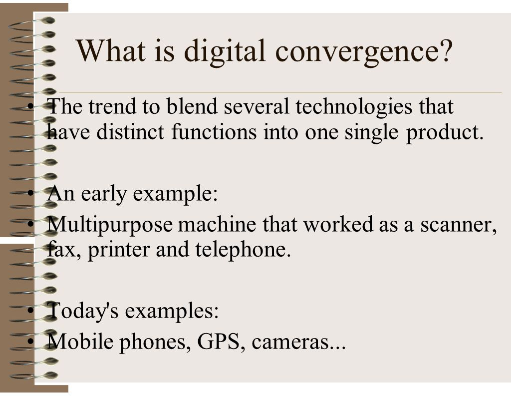 What is digital convergence
