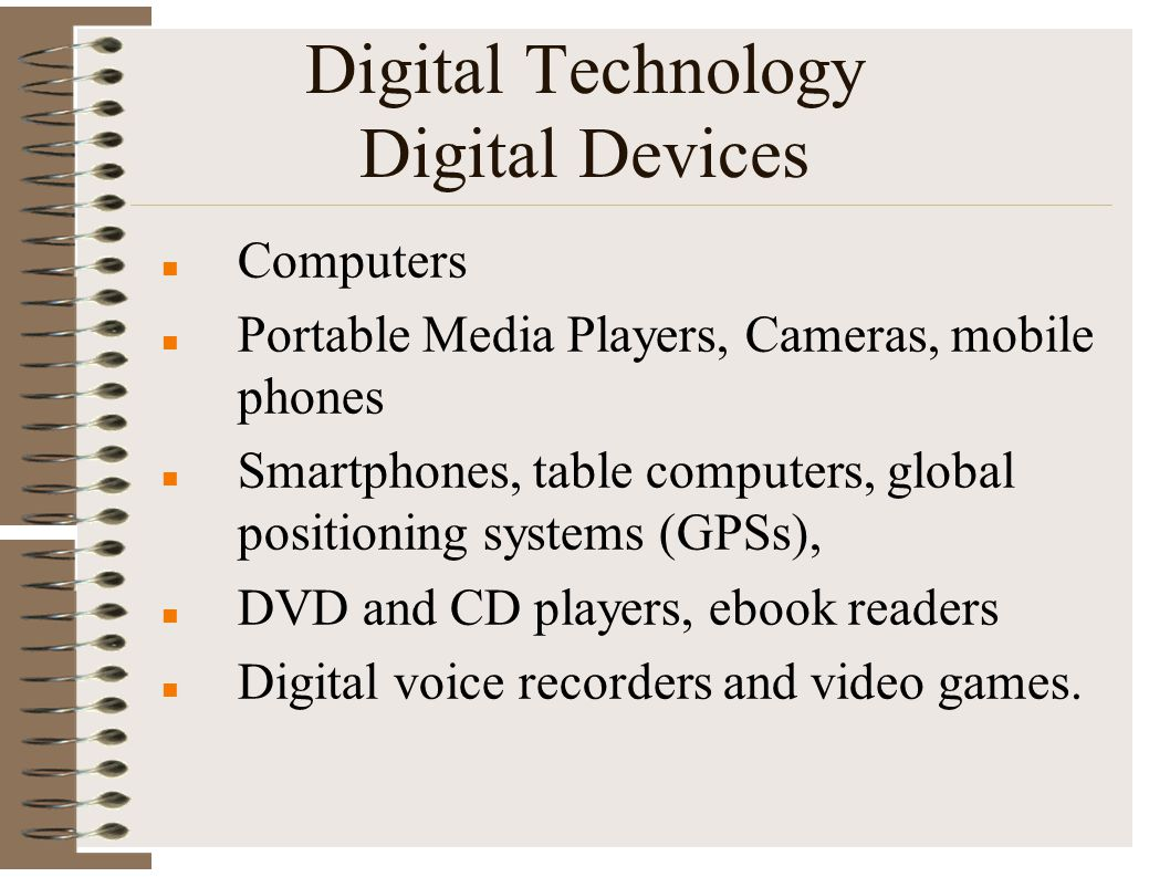 Digital Technology Digital Devices