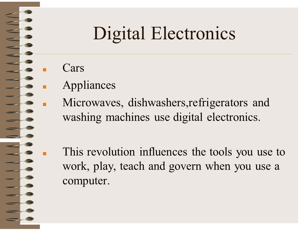Digital Electronics Cars Appliances