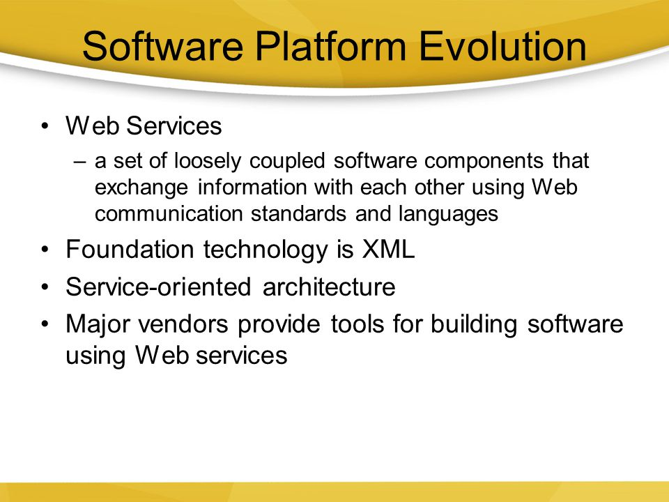 Software Platform Evolution