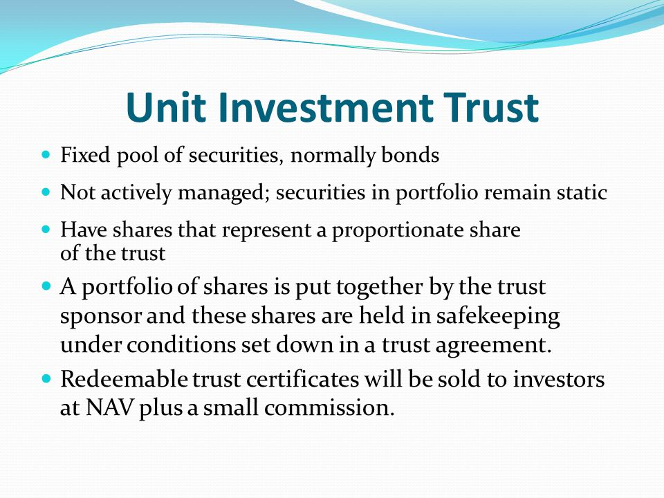 Unit investment trust redeemable definition unit investment trust fund bpi trade