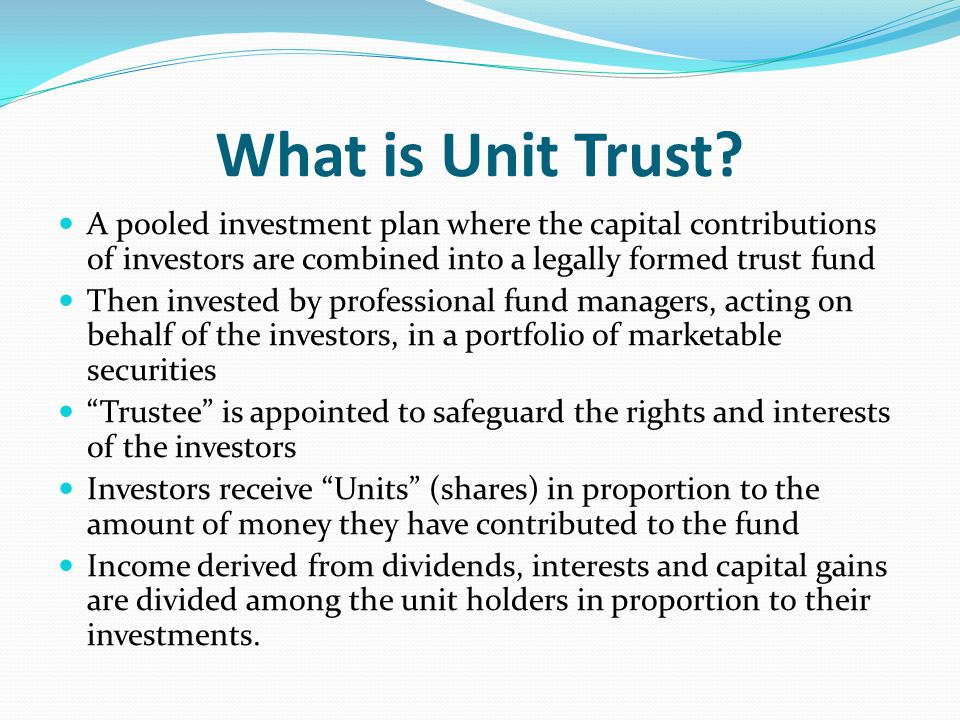 Chapter 12 Unit Trust Ppt Video Online Download