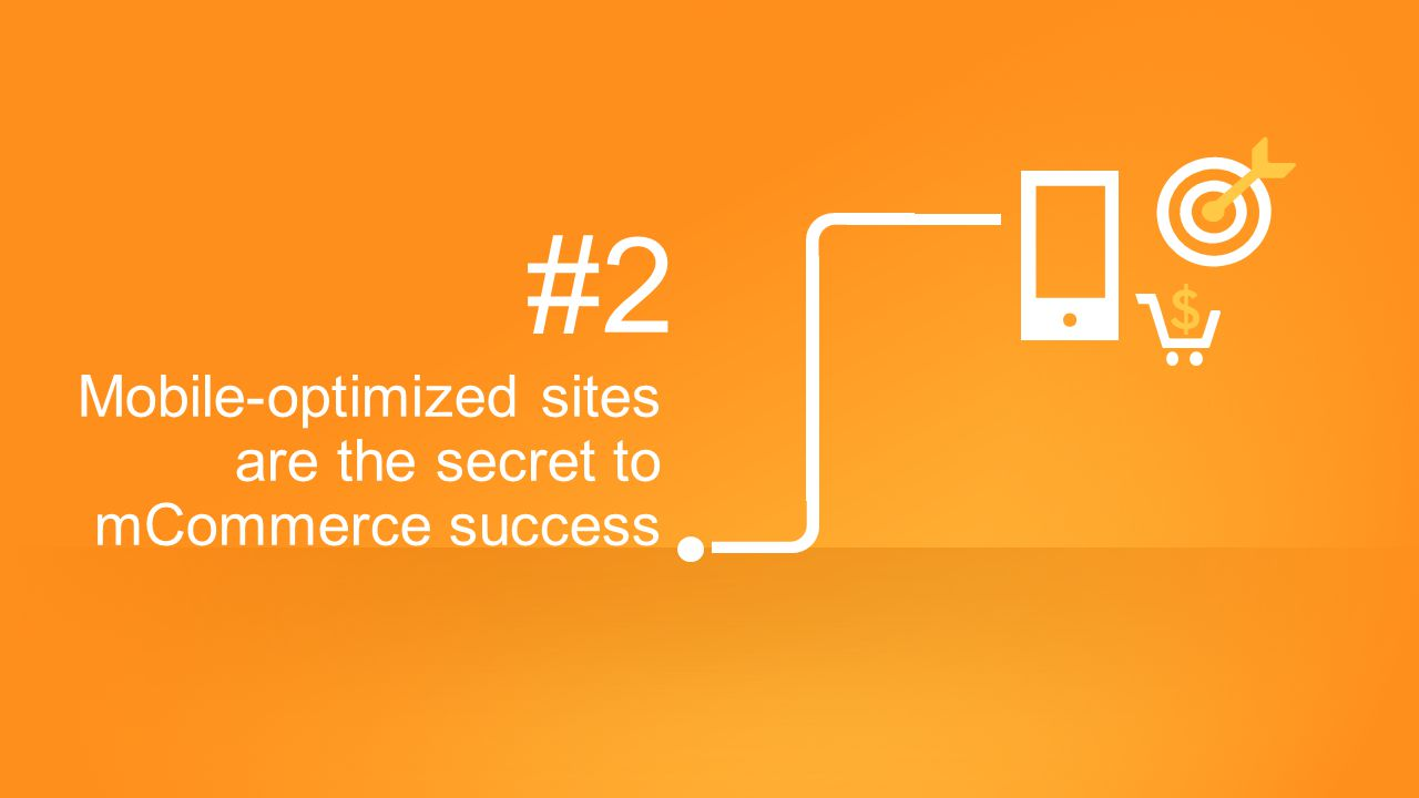 #2 Mobile-optimized sites are the secret to mCommerce success