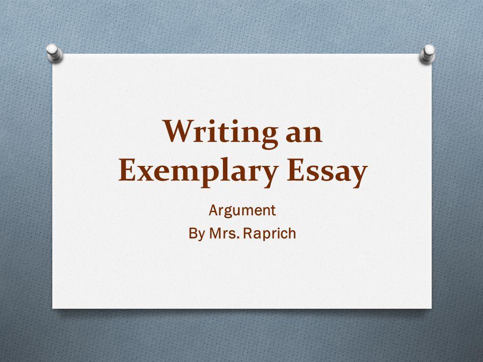 exemplary essay