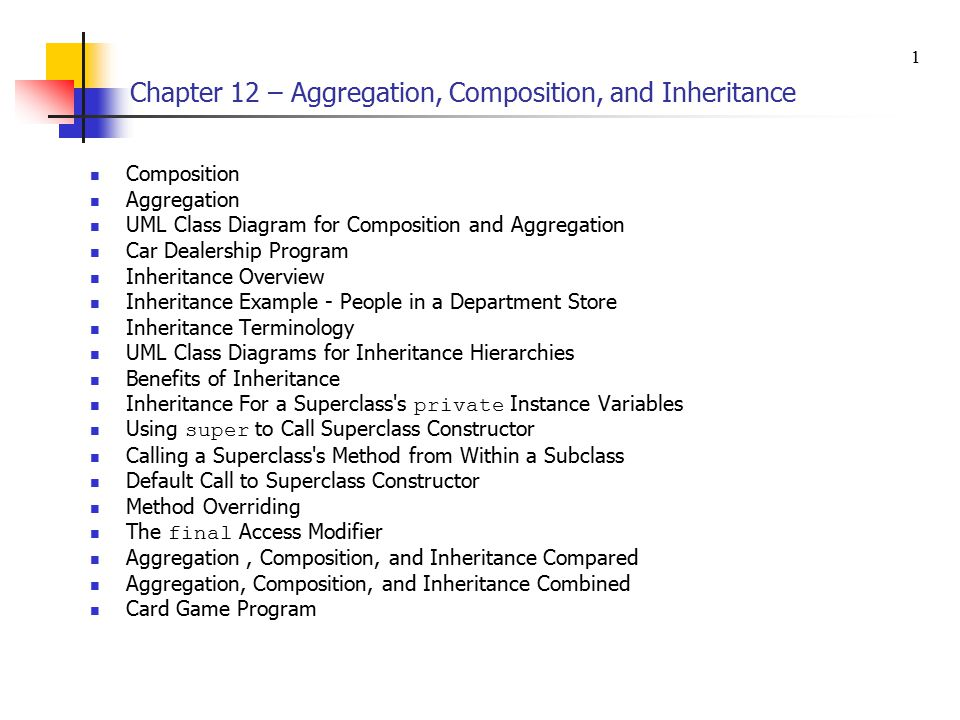 Chapter 12 aggregation composition and inheritance ppt download chapter 12 aggregation composition and inheritance ccuart Gallery