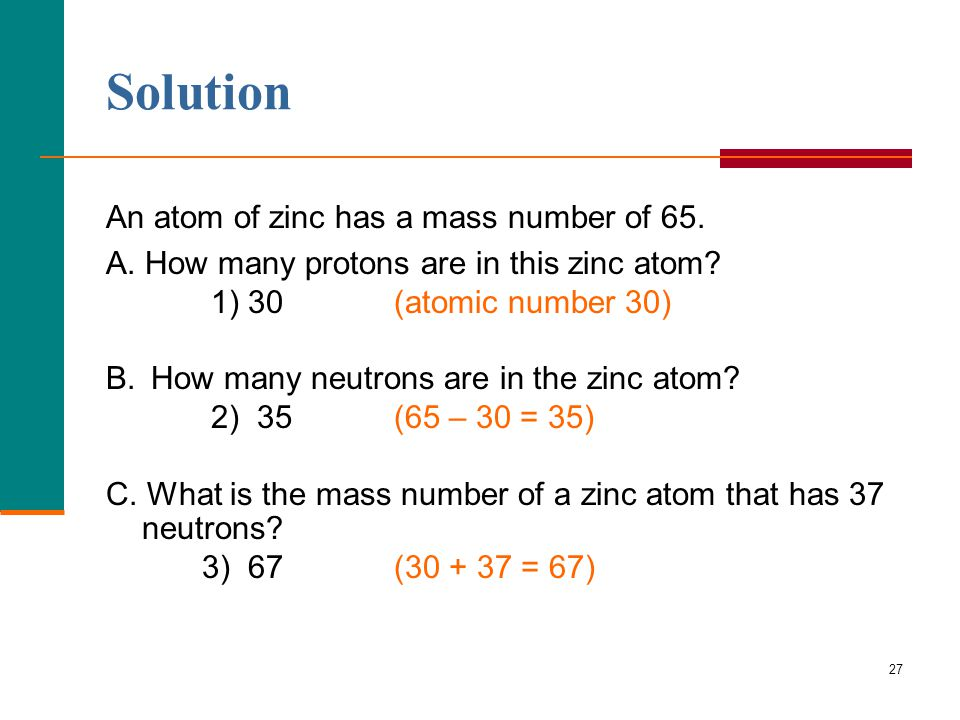 Zinc periodic table neutrons two birds home solution an atom of zinc has a mass number 65 urtaz Images