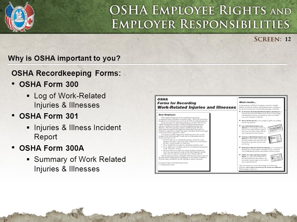 Osha Employee Rights And Employer Responsibilities Ppt Download