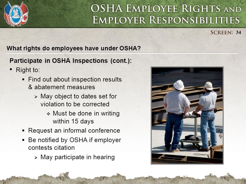 OSHA Employee Rights and Employer Responsibilities - ppt