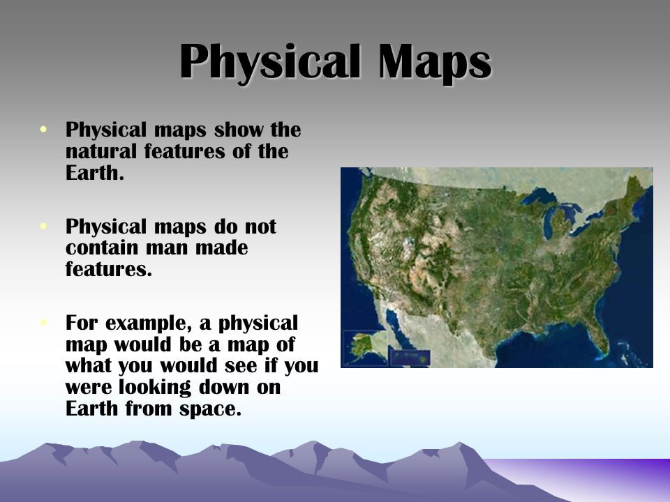 What Does A Physical Map Show Map Skills.   ppt download