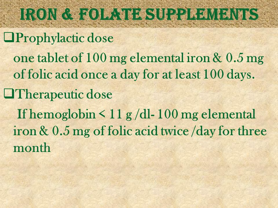 Iron & folate supplements