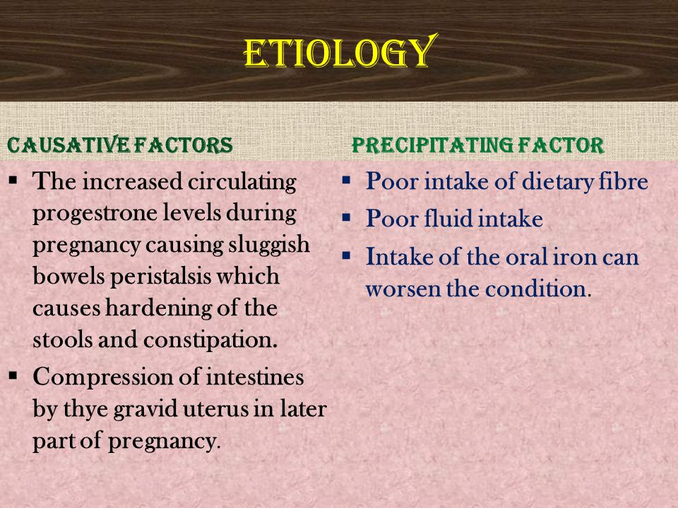 ETIOLOGY CAUSATIVE FACTORS. PRECIPITATING FACTOR.