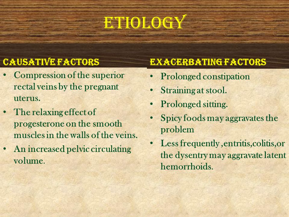 ETIOLOGY CAUSATIVE FACTORS EXACERBATING FACTORS