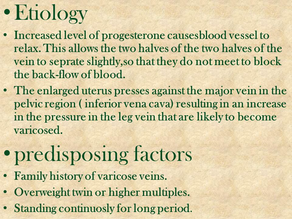 Etiology predisposing factors