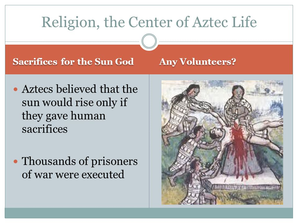 Religion, the Center of Aztec Life