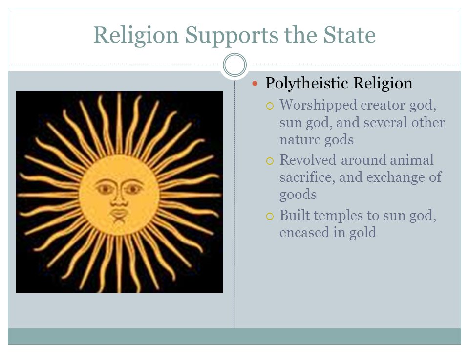 Religion Supports the State