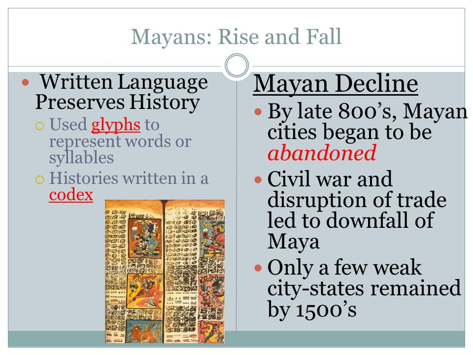 Mayan Decline Mayans: Rise and Fall