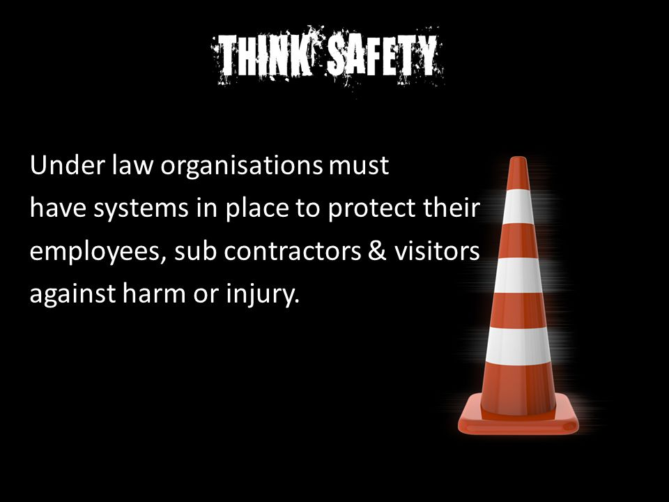 Under law organisations must