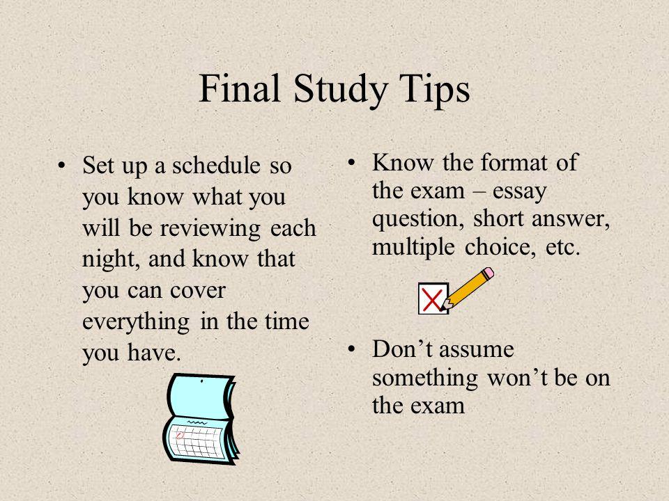 good study tips for final exams